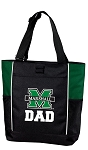 Marshall University Dad Tote Bag Hunter Green