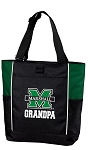 Marshall University Grandpa Tote Bag Hunter Green