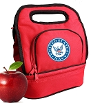 US NAVY Lunch Bag 2 Section Red