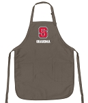 Official NC State Grandma Apron Tan