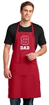 NC State Dad Large Apron Red