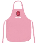 Deluxe NC State Grandma Apron Pink - MADE in the USA!