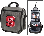 NC State Wolfpack Toiletry Bag or NC State Shaving Kit Organizer for Him Gray