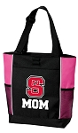 NC State Mom Tote Bag Pink