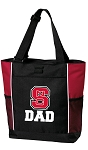 NC State Dad Tote Bag Red