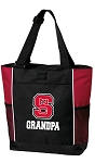 NC State Grandpa Tote Bag Red