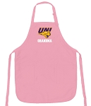 Deluxe University of Northern Iowa GrandMa Apron Pink - MADE in the USA!