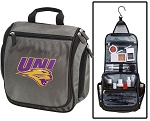 UNI Panthers Toiletry Bag or University of Northern Iowa Shaving Kit Organizer for Him Gray