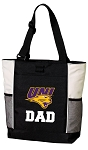University of Northern Iowa Dad Tote Bag White Accents