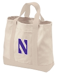 Northwestern Tote Bags NATURAL CANVAS