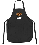 Official Oklahoma State Dad Apron Black