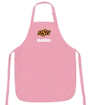 Deluxe Oklahoma State Grandma Apron Pink - MADE in the USA!