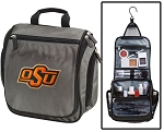 OSU Cowboys Toiletry Bag or Oklahoma State Shaving Kit Organizer for Him Gray