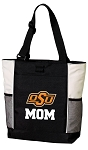 Oklahoma State Mom Tote Bag White Accents