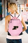 Purdue Drawstring Bag Mesh and Microfiber Pink