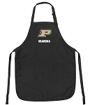 Official Purdue Grandma Apron Black