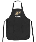 Official Purdue Grandpa Apron Black