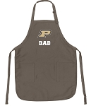 Official Purdue University Dad Apron Tan