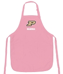 Deluxe Purdue Grandma Apron Pink - MADE in the USA!