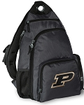 Purdue University Backpack Cross Body Style Gray