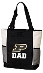 Purdue Dad Tote Bag White Accents