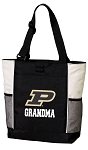Purdue Grandma Tote Bag White Accents