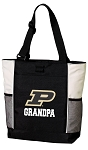 Purdue Grandpa Tote Bag White Accents