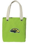 Southern Miss Tote Bag RICH COTTON CANVAS Green