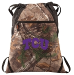 TCU RealTree Camo Cinch Pack