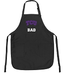 Official Texas Christian University Dad Apron Black