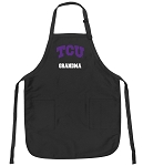 Official Texas Christian University Grandma Apron Black