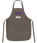 Official TCU Dad Apron Tan