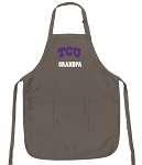 Official TCU Grandpa Apron Tan