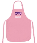 Deluxe Texas Christian University Grandma Apron Pink - MADE in the USA!