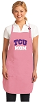 Deluxe Texas Christian University Mom Apron Pink - MADE in the USA!