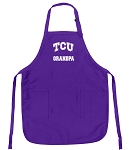 Deluxe Texas Christian University Grandpa Apron MADE in the USA!