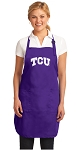 Deluxe Texas Christian University Apron MADE in the USA!