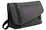 TCU Messenger Laptop Bag Stylish Charcoal
