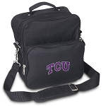 TCU Texas Christian Small Utility Messenger Bag or Travel Bag