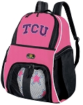 Girls Texas Christian University Soccer Backpack or TCU Volleyball Bag