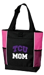 Texas Christian University Mom Tote Bag Pink