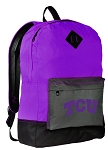 TCU Backpack CLASSIC STYLE Texas Christian University Backpacks