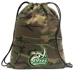 UNCC Drawstring Backpack Green Camo