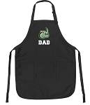 Official UNC Charlotte Dad Apron Black