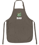 Official UNCC Dad Apron Tan