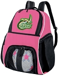 Girls UNCC Soccer Backpack or University of North Carolina Charlotte Volleyball Bag