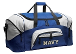 Naval Academy Duffle Bag or USNA Navy Gym Bags Blue