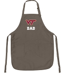Official Virginia Tech Dad Apron Tan