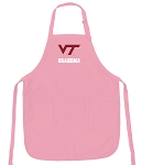 Deluxe Virginia Tech Grandma Apron Pink - MADE in the USA!
