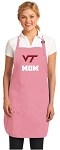 Deluxe Virginia Tech Mom Apron Pink - MADE in the USA!
